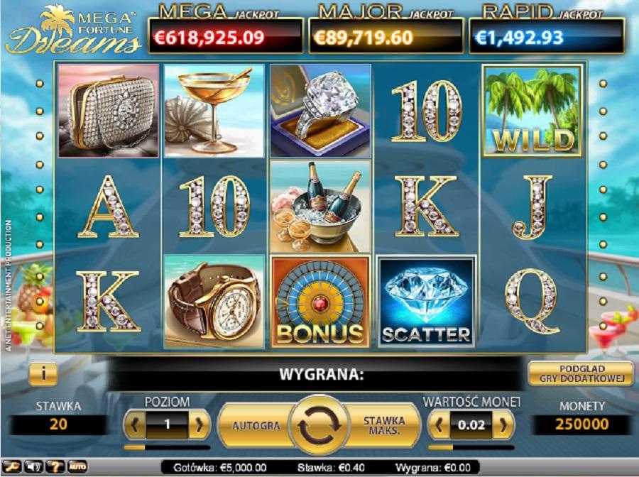 Automat Do Gry Mega Fortune Jackpot