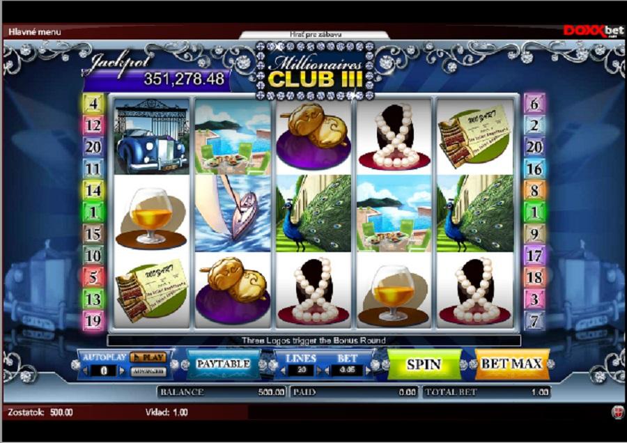 Automaty Milionářský klub online