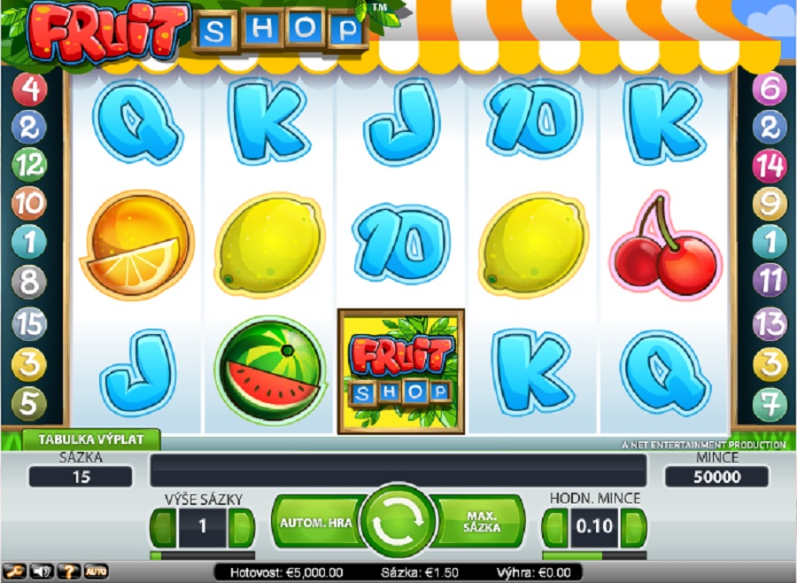 Automaty hry Fruit Shop