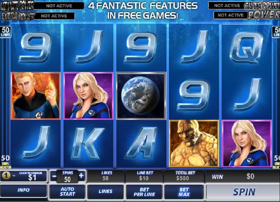 Automaty online Fantastická čtyřka