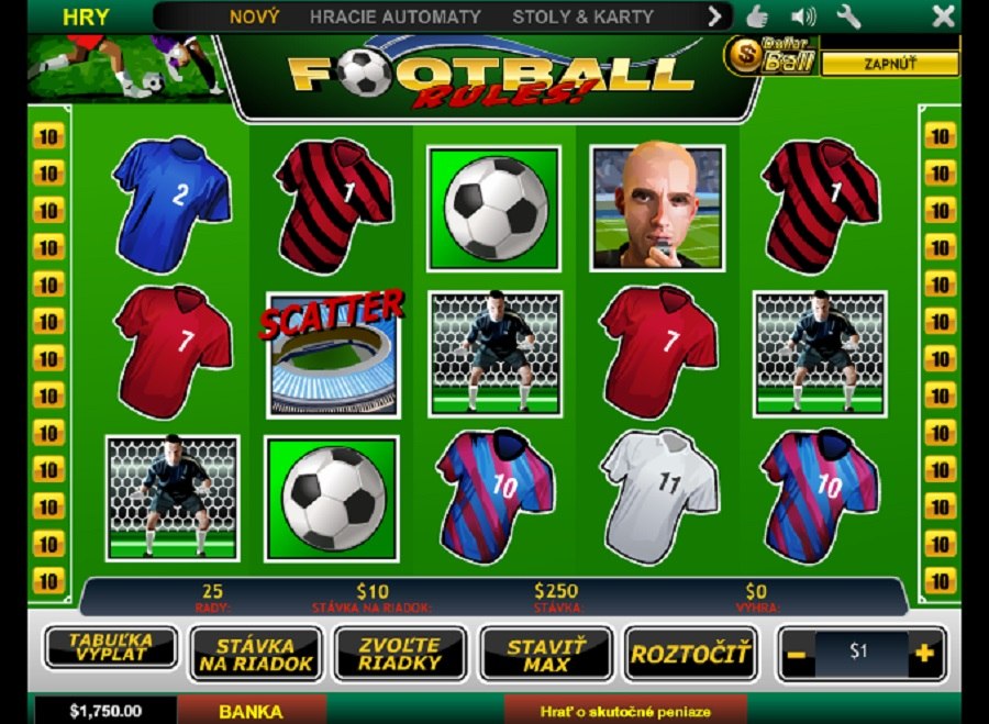Hrací automat Football Rules