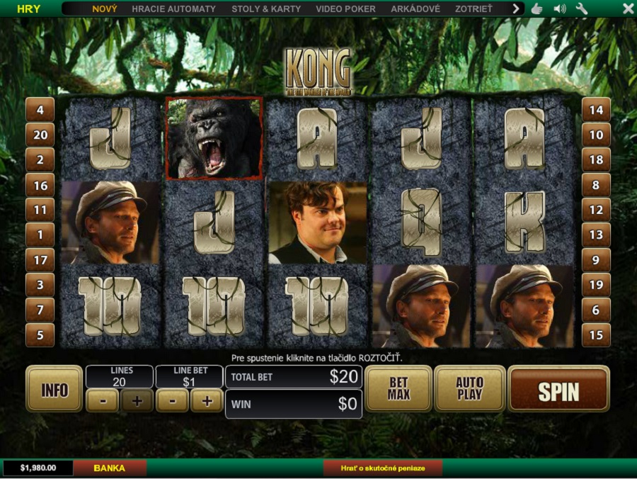 Hrací automat King Kong