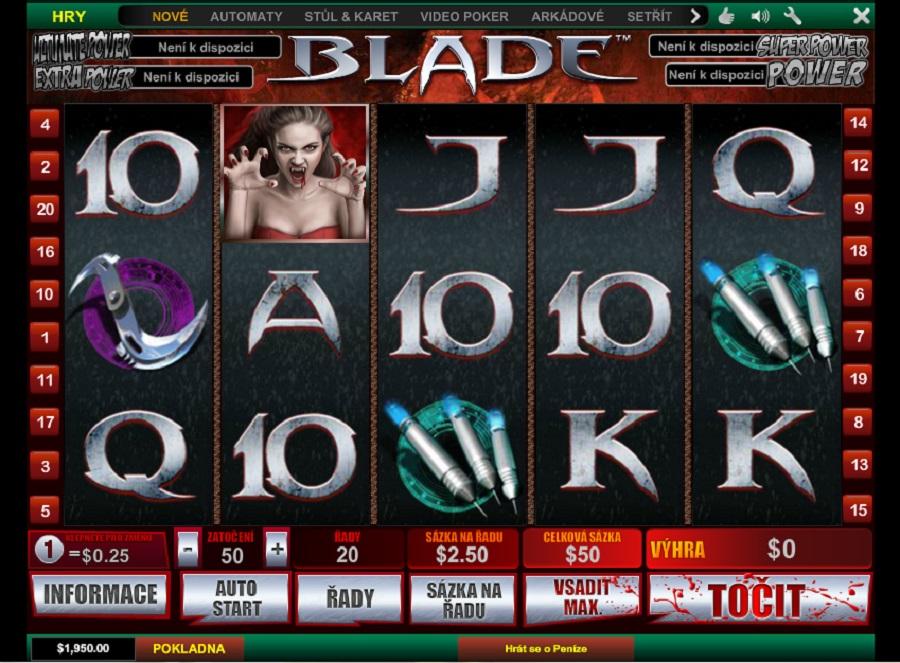 Hrací automaty Blade zdarma