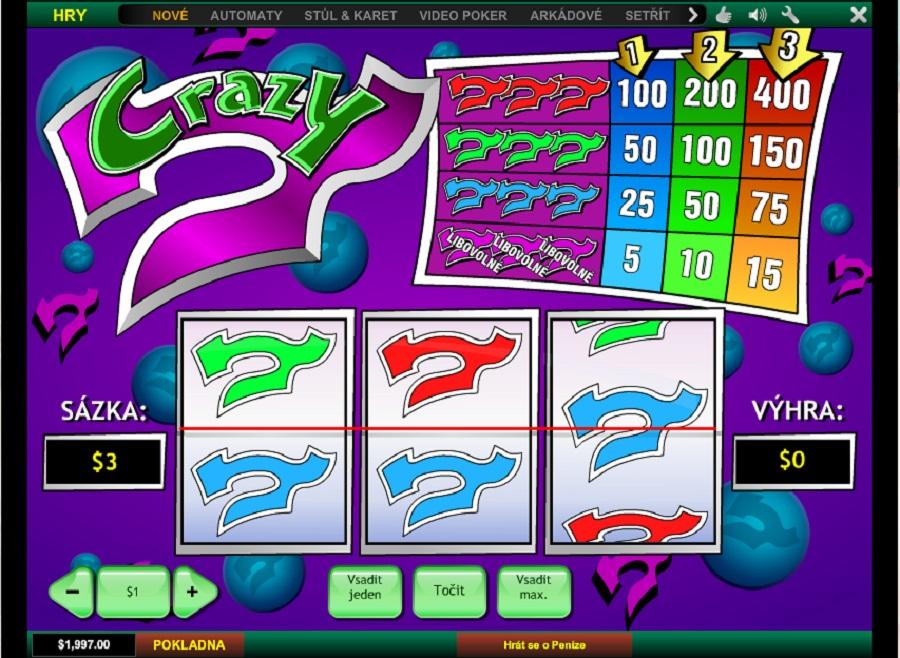 Hrací automaty Crazy 7