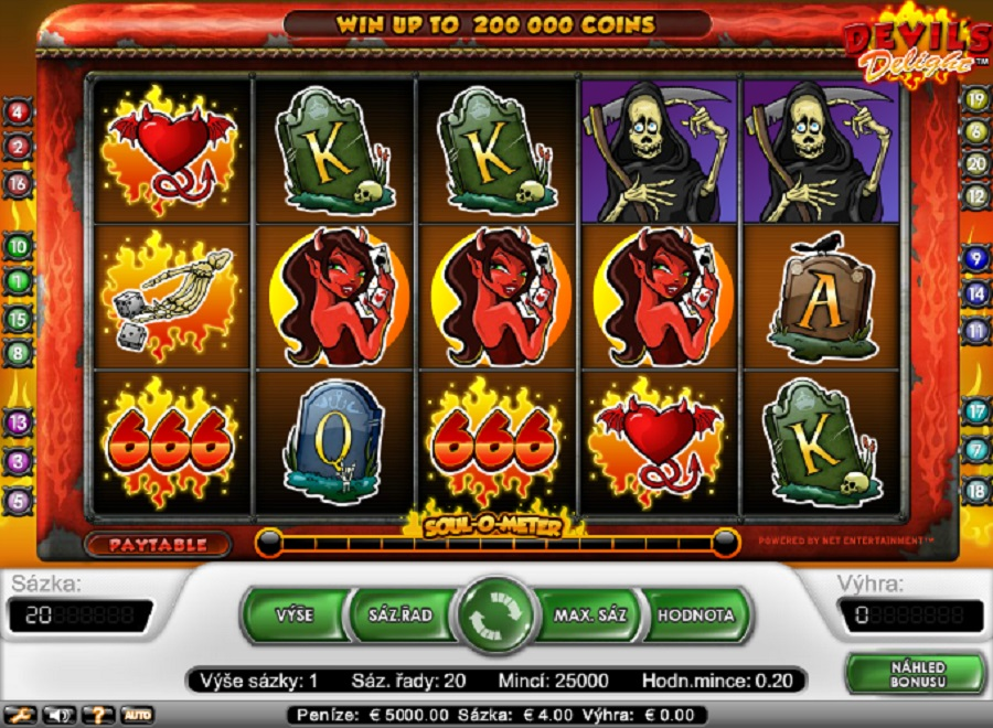 Hrací automaty Devils Delight