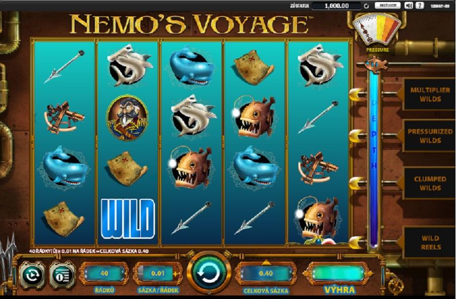 Hrací automaty Nemo´s Voyage zdarma