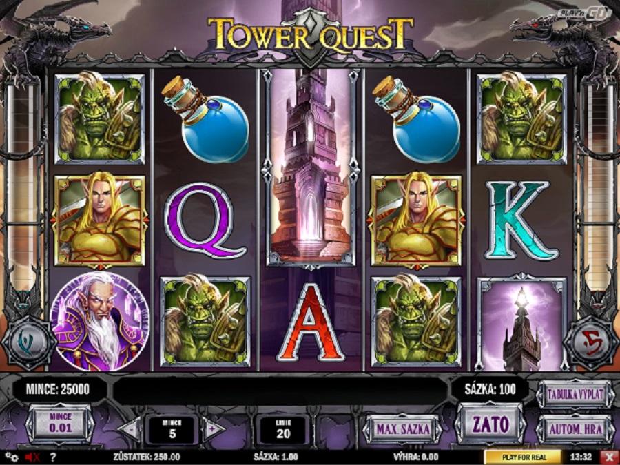 Hrací automaty Tower Quest zdarma