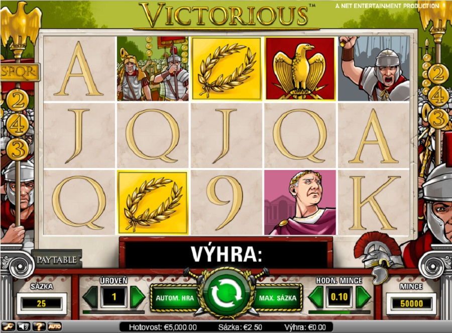 Hrací automaty Victorious zdarma