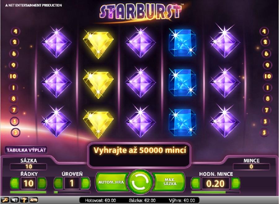 Hracie automaty Starburst