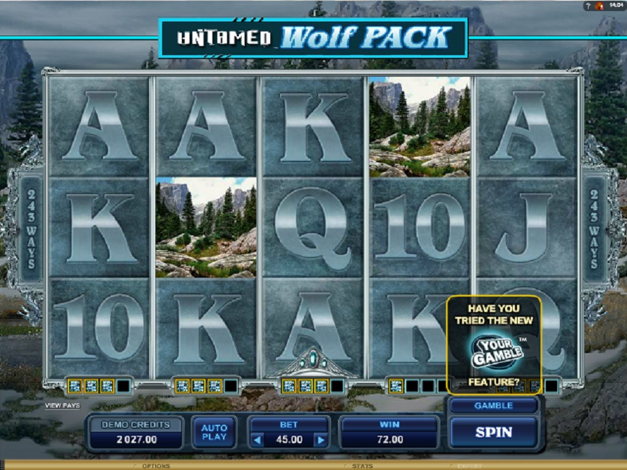 Hracie automaty Untamed wolf pack