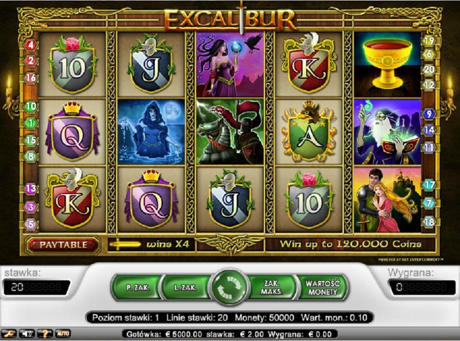 Jednoręki Bandyta Darmowe Online Excalibur