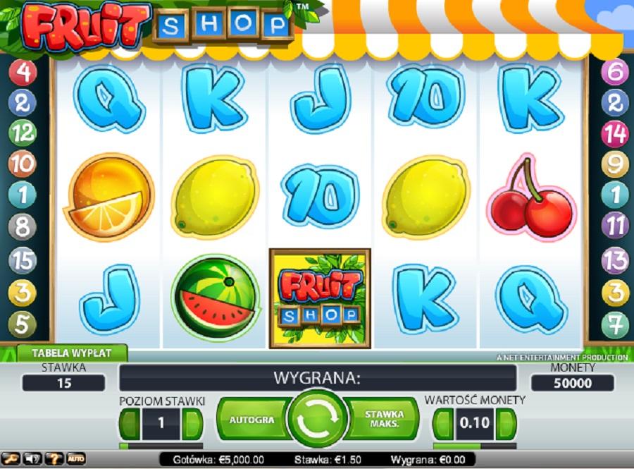 Jednoręki Bandyta Fruit Shop Gratis