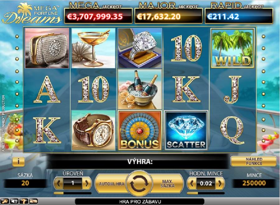 Mega Fortune automaty zdarma