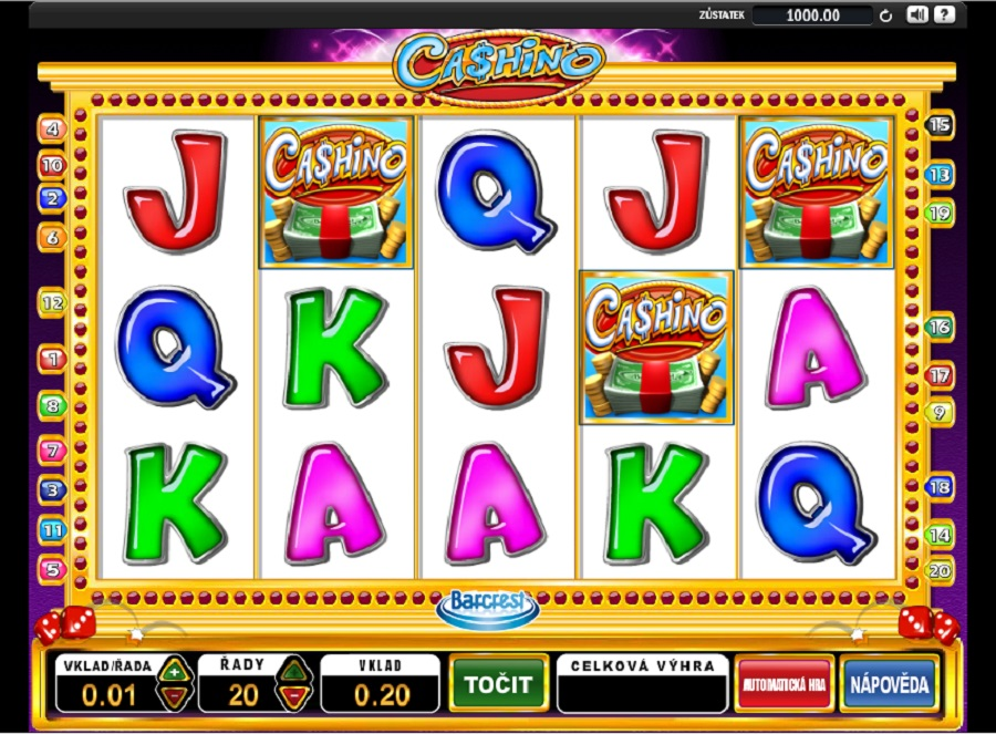 Video automaty Cashino zdarma