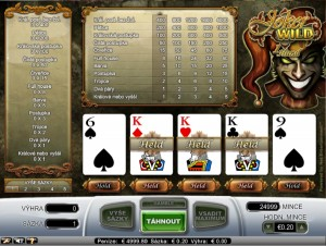 Video poker Joker Wild zadarmo