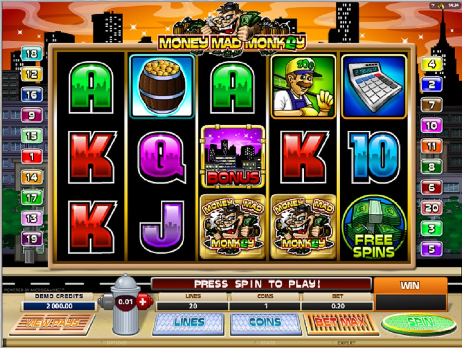 Videoautomaty Money mad monkey