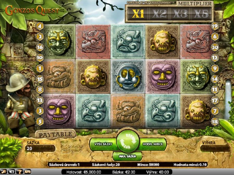 Výherné automaty Gonzos Quest zdarma