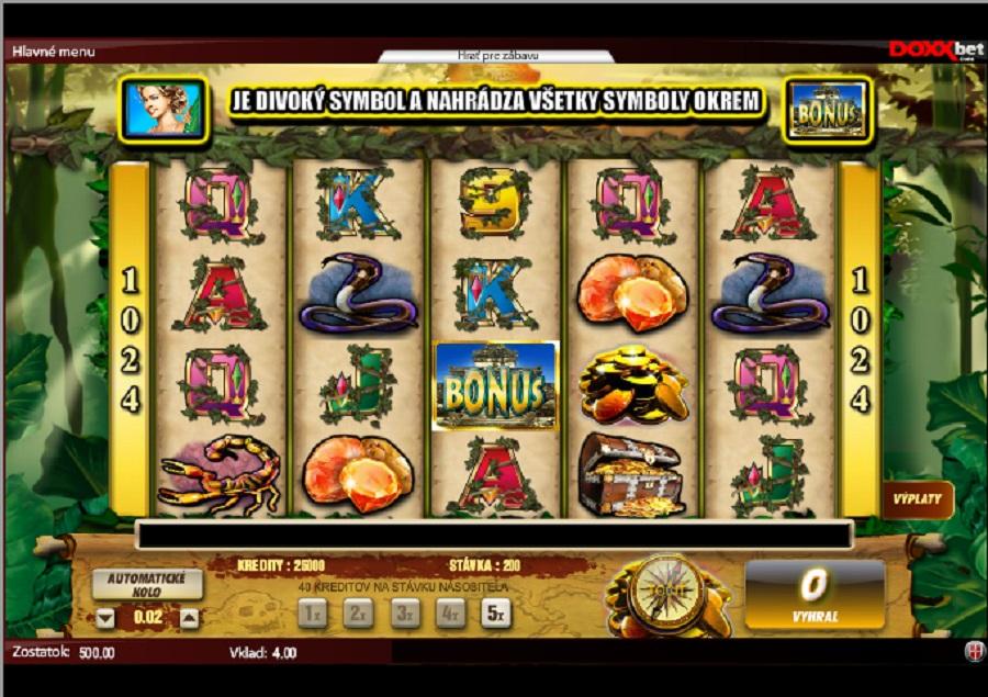 Výherné hracie automaty Lost Temple