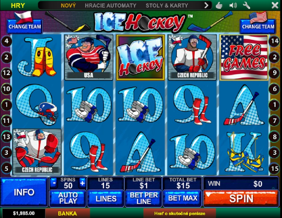 Výherní automat Hokej