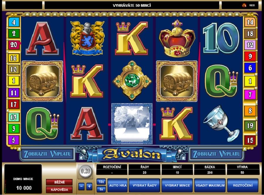 Výherní hrací automaty Avalon