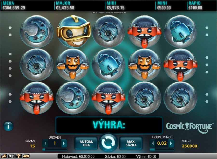 Výherní hrací automaty Cosmic Fortune