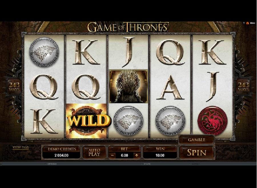 Výherní hrací automaty Hra o trůny