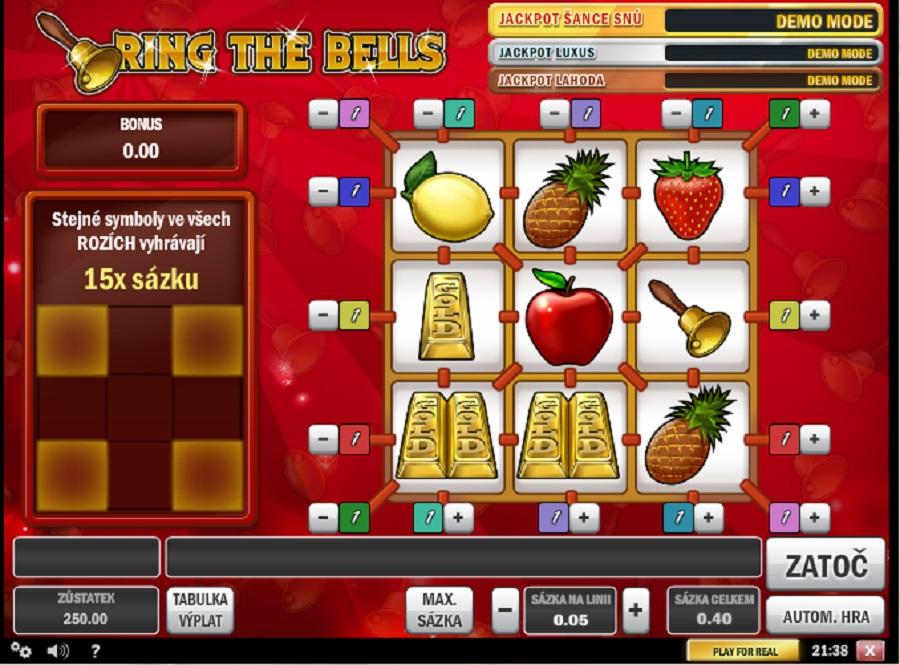 Výherní hrací automaty Ring The Bells