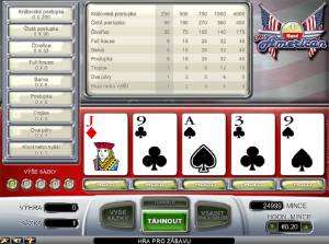 Video poker All American online