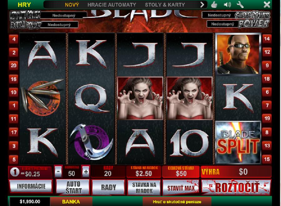Hracie automaty online free Blade