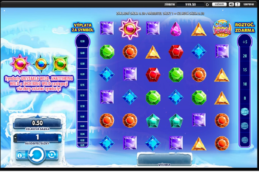 Hracie automaty Cool Jewels zadarmo