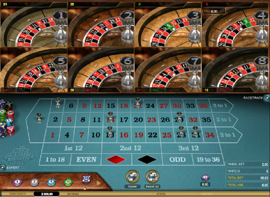 Multi wheel ruleta