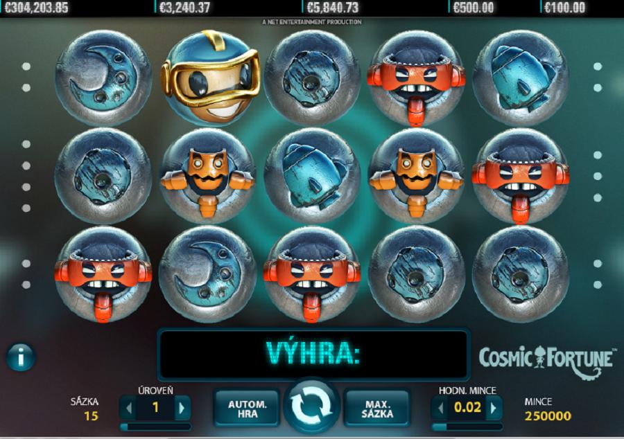 Výherné hracie automaty Cosmic Fortune