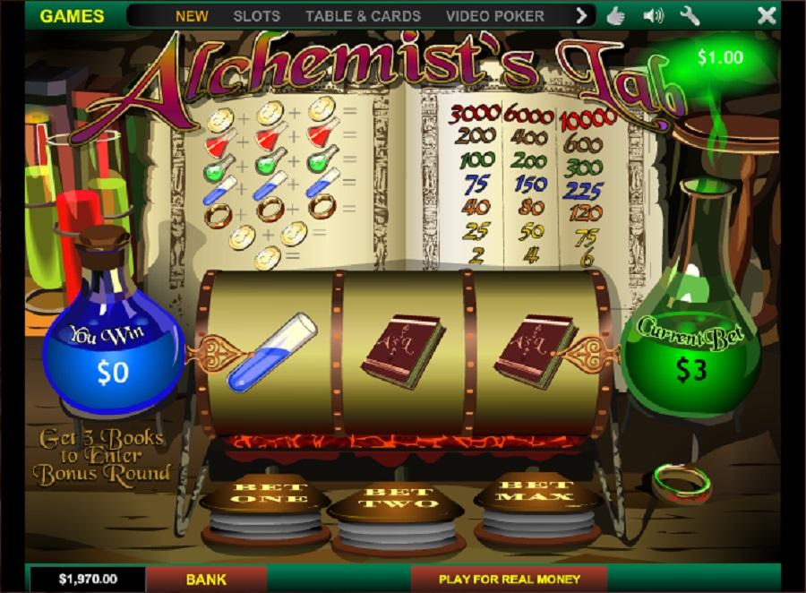 Alchemists Lab slot machine