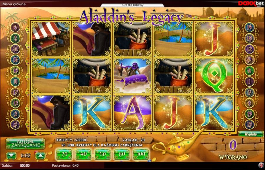 Automatove gry Alladin's Legacy