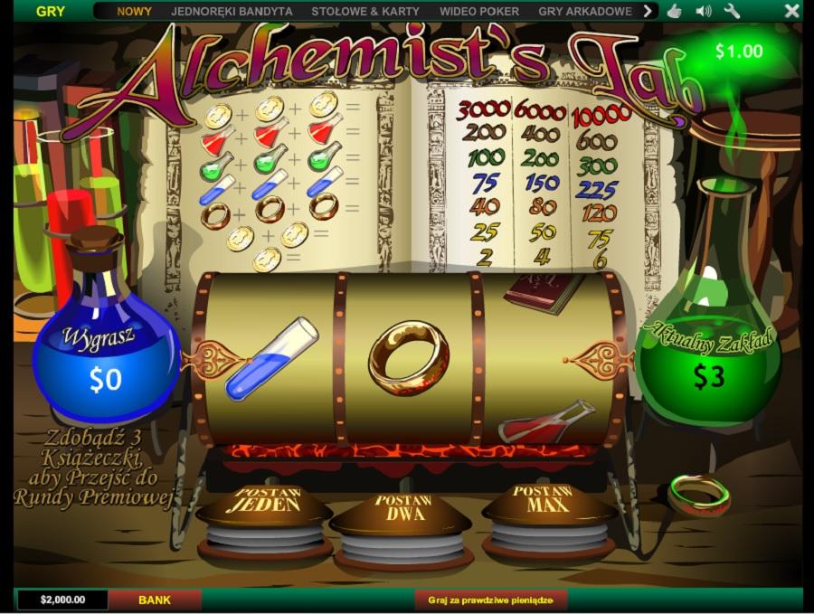 Automaty do gry Alchemist's Lab
