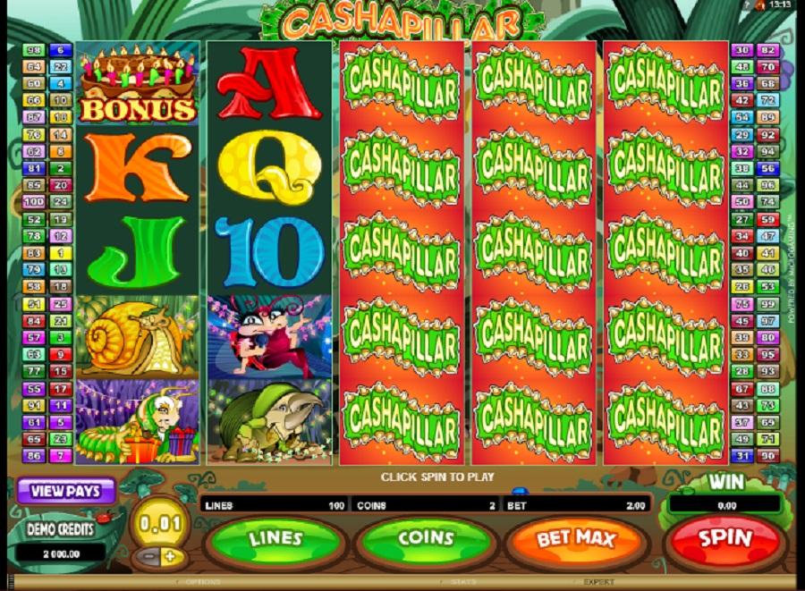Cashapillar online slot game