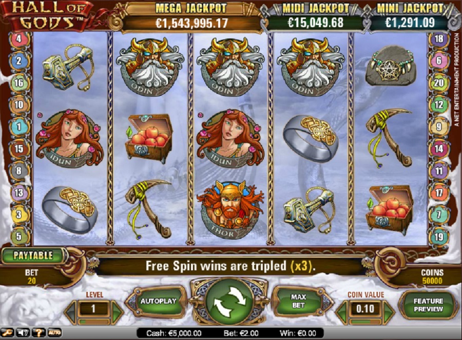 Hall of Gods Slot Game