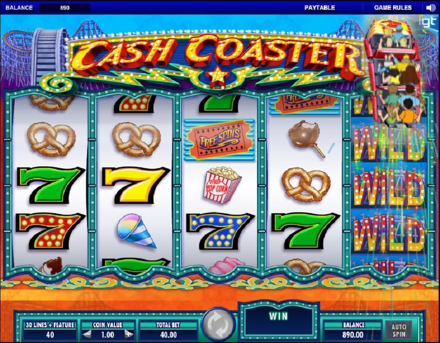 Hrací automat Cash Coaster