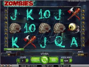 Hrací automat Zombie