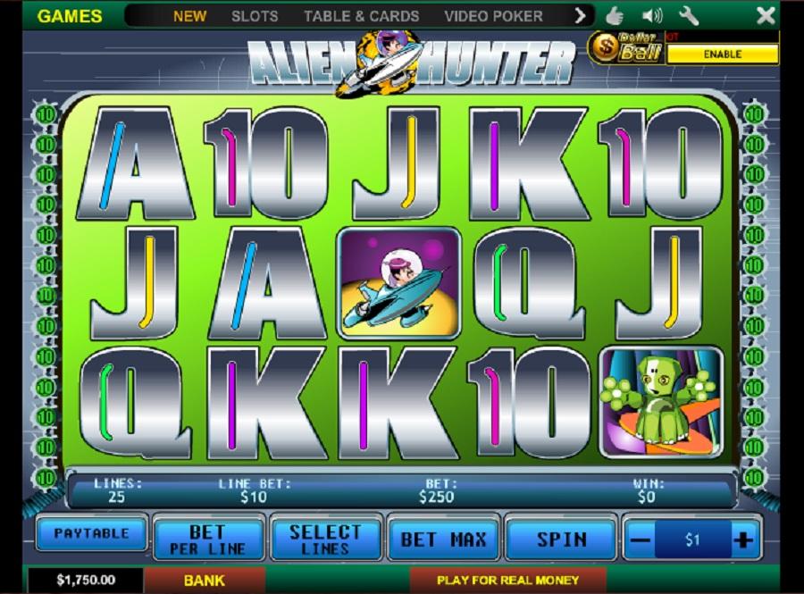 Online slot machine Alien Hunter