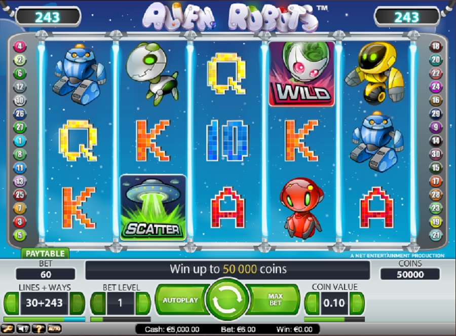 Slot Machine Alien Robots Free