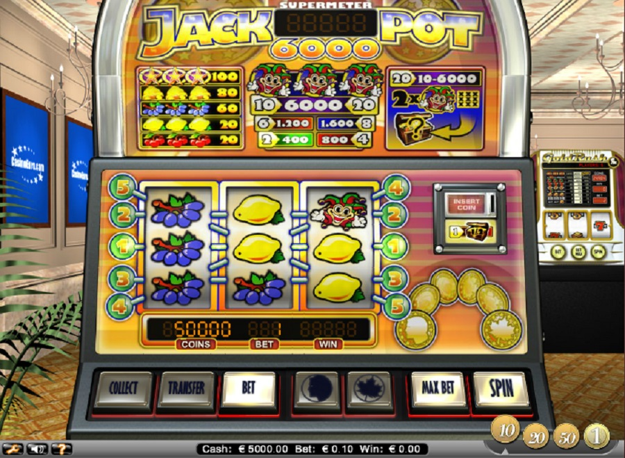 Slot machines online Jackpot6000 free