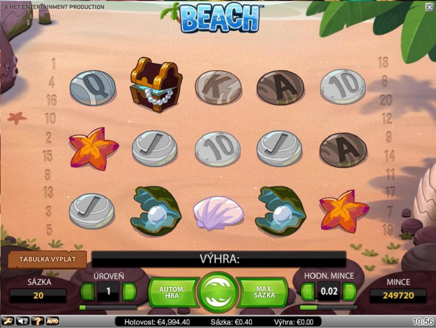 Výherní automat Beach