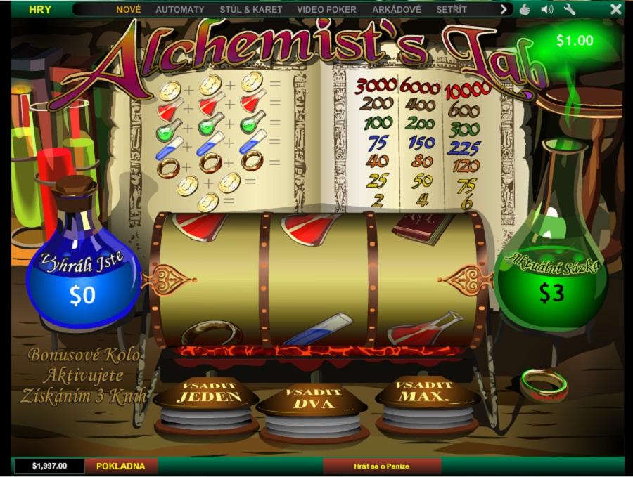 Výherní hrací automaty Alchemist's Lab