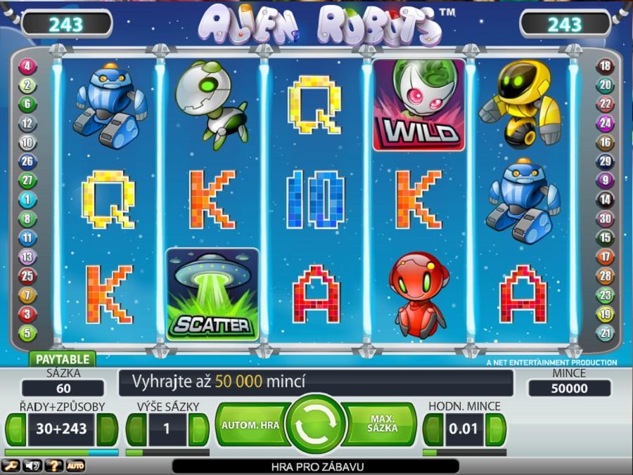 Výherný automat Alien Robots