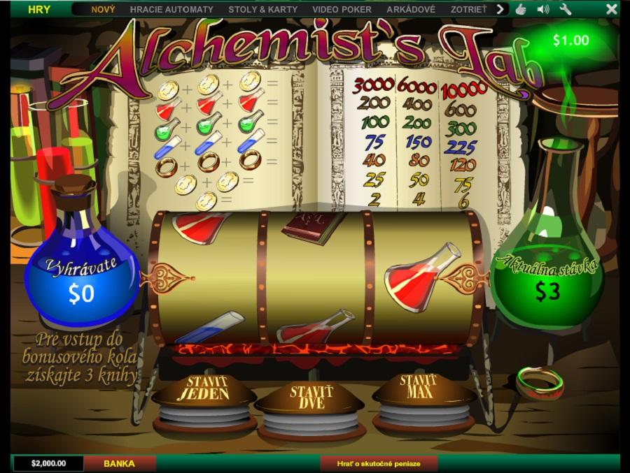 Výherný hrací automat Alchemist's Lab