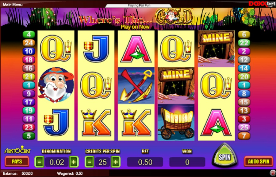 Where is the Gold Slot Game