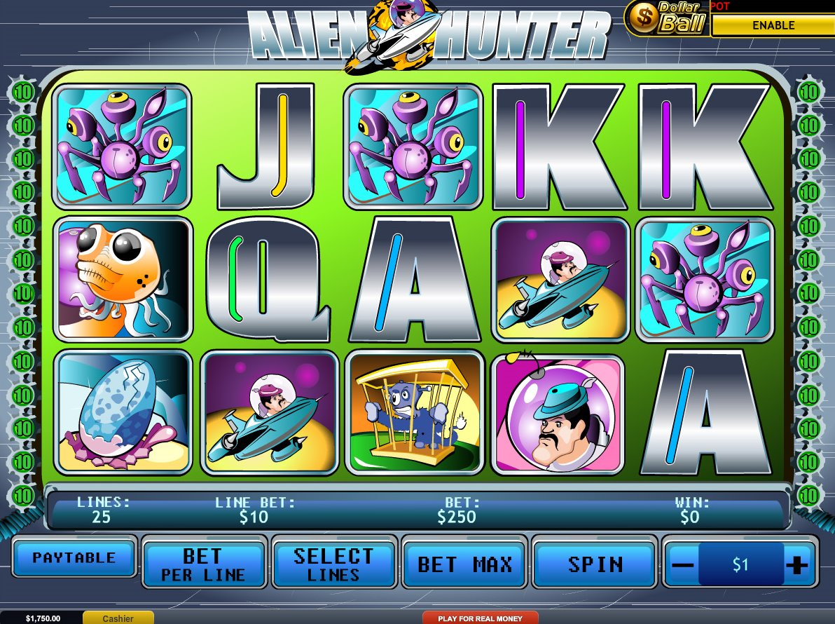 hraci automat alien hunters