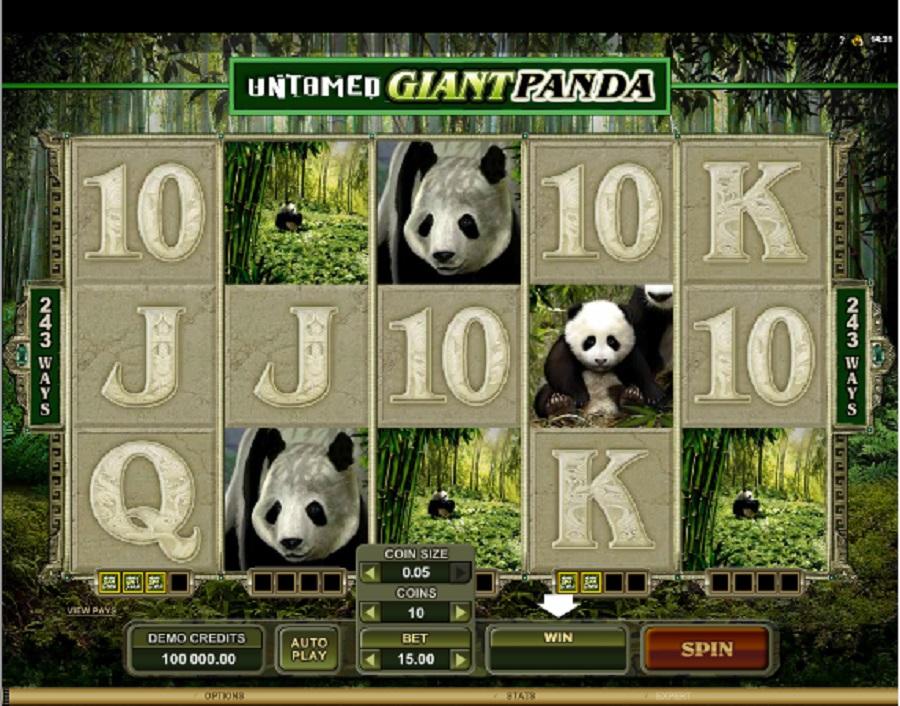 Hracie Automaty Giant Panda