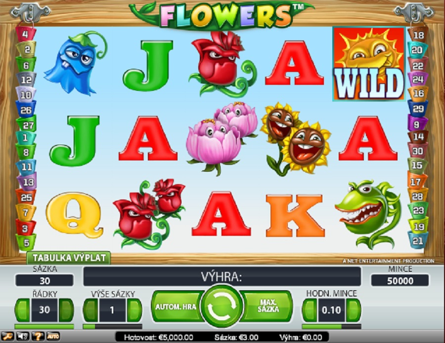 Kasíno automaty hry Flowers